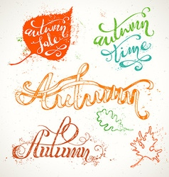Hand-written Autumn Lettering vector