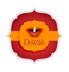 Happy diwali festival wishes card background vector