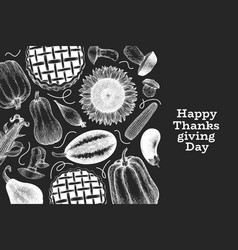 Happy thanksgiving day design template hand drawn vector