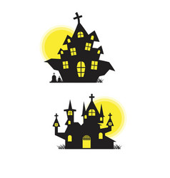 house halloween background vector image
