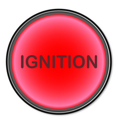 ignition button vector image