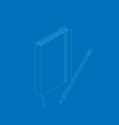 isometric flat of copybook vector image