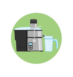 juicer icon flat style isolated white home vector image