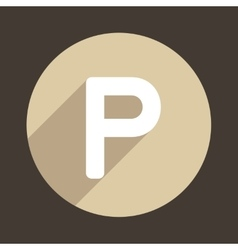 Letter P Logo Flat Icon Style vector image