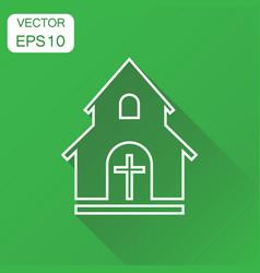 line church sanctuary icon business concept vector image