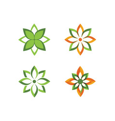 logos green leaf ecology nature element vector image