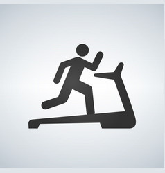 man on treadmill icon vector image