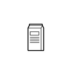 milk dairy icon vector image