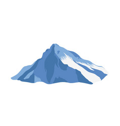 Mountain ridge with top or summit covered with ice vector