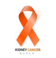 National kidney cancer awareness month realistic vector