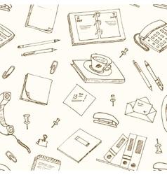 Office tools doodles pen pencils book paper vector