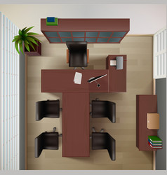 Office Top View vector image