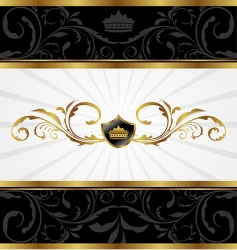 ornate gold frame vector image