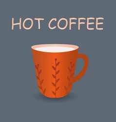 perfect red cup of coffee with steam vector image