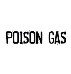 Poison gas stamp on white vector