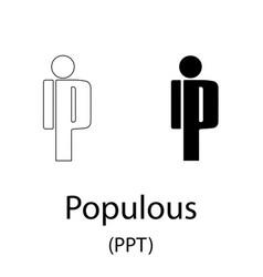 populous black silhouette vector image