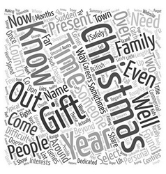 Possible gifts for impossible people text vector