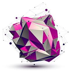 Purple complicated lattice technology figure vector image