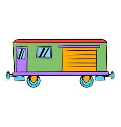 railroad carriage icon icon cartoon vector image