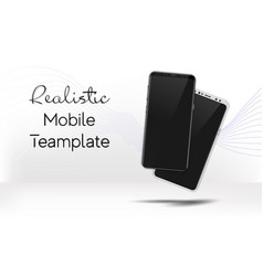 realistic white and black smartphone mock up vector image