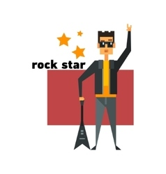 Rock Star Abstract Figure vector