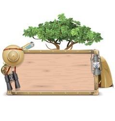 Safari Wooden Board vector