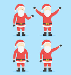 santa claus cartoon style characters collection vector image