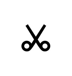 Scissors icon barber hair sign vector