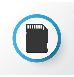 Sd card icon symbol premium quality isolated vector