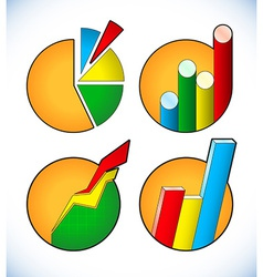 Set of business diagram icons vector image vector image