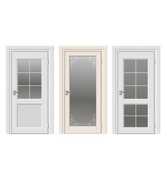 Set of classic doors vector