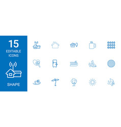 Shape icons vector