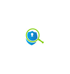 shield protection lock logo vector image