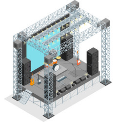 Stage for street performance concept 3d isometric vector