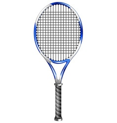 Tennis racket on white vector image
