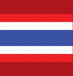 Thailand flag in art design 4 vector