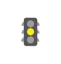 traffic lights energy electricity flat icon vector image
