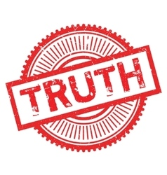 Truth stamp rubber grunge vector