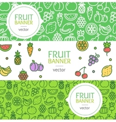 Vegan Banner Flyer Horizontal Set vector