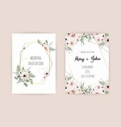 wedding invite invitation design with elegant vector image