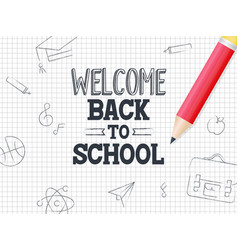 welcome back to school poster template with grid vector image