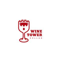 wine tower logo vector image