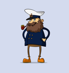 captain with a pipe vector image vector image
