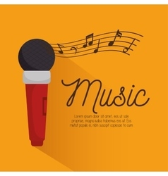 Music festival instrument poster microphone vector