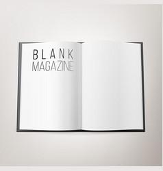open magazine spread blank double spread vector image