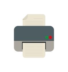 printer work office copy equipment vector image