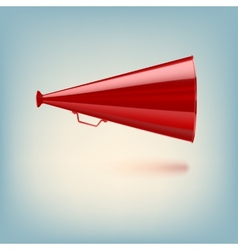 Red megaphone on colored background vector image