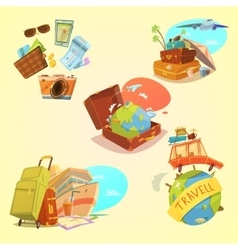 Travel Cartoon Set vector image vector image