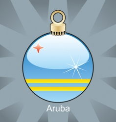 Aruba flag on bulb vector image vector image