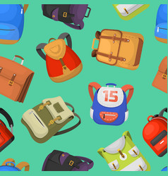 cartoon kids school bags backpack back to vector image